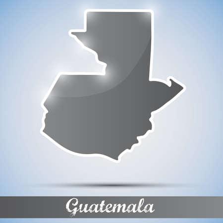 guatemala: shiny icon in form of Guatemala