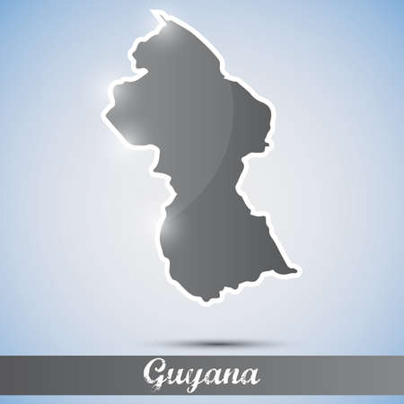 georgetown: shiny icon in form of Guyana