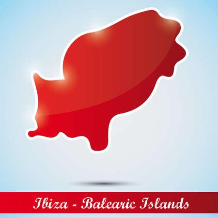 ibiza: shiny icon in form of Ibiza, Spain