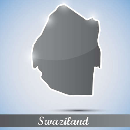 swaziland: shiny icon in form of Swaziland Illustration
