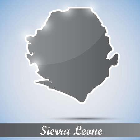 sierra: shiny icon in form of Sierra Leone