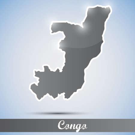 congo: shiny icon in form of Congo