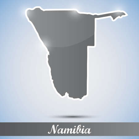 namibia: shiny icon in form of Namibia