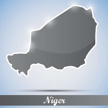 niger: shiny icon in form of Niger Illustration