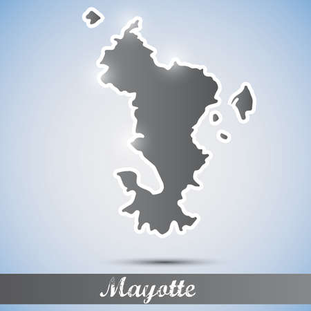 mayotte: shiny icon in form of Mayotte