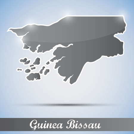 bissau: shiny icon in form of Guinea Bissau