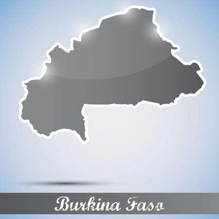 burkina faso: shiny icon in form of Burkina Faso Illustration