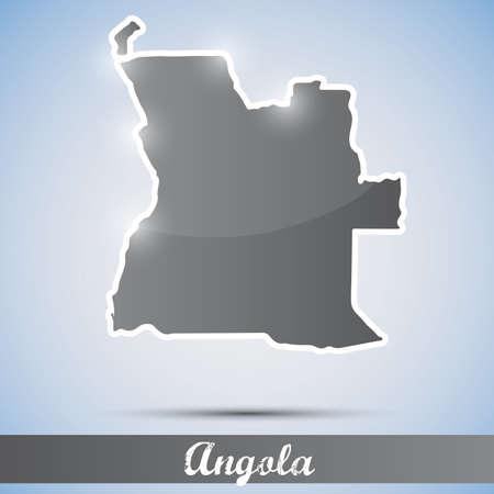 angola: shiny icon in form of Angola Illustration