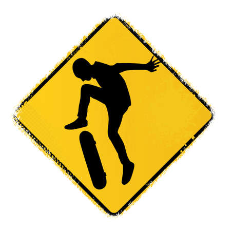 skateboard warning sign Stock Vector - 20243635