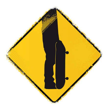 skateboard warning sign Stock Vector - 20243626