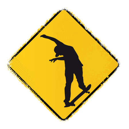 skateboard warning sign Stock Vector - 20243666