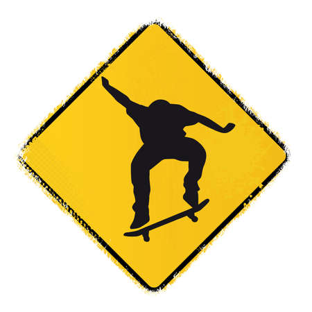 skateboard warning sign Stock Vector - 20243627