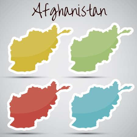 afghane: Aufkleber in Form von Afghanistan