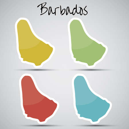 barbadian: stickers in form of Barbados