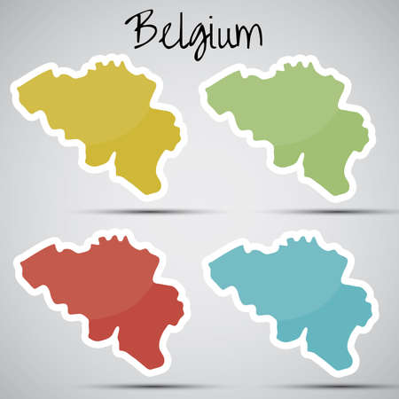 mapa: stickers in form of Belgium Illustration