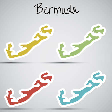 bermuda: stickers in form of Bermuda
