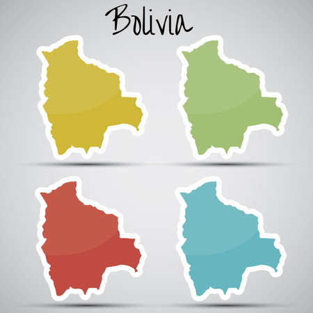 mapa de bolivia: pegatinas en forma de Bolivia