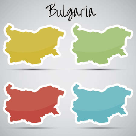 karte: stickers in form of Bugaria