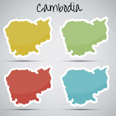 stickers in form of Cambodia Illustration
