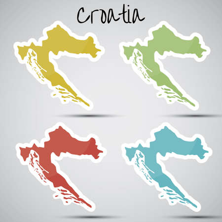 mapa: stickers in form of Croatia