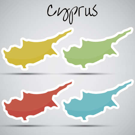 cyprus: stickers in form of Cyprus Illustration