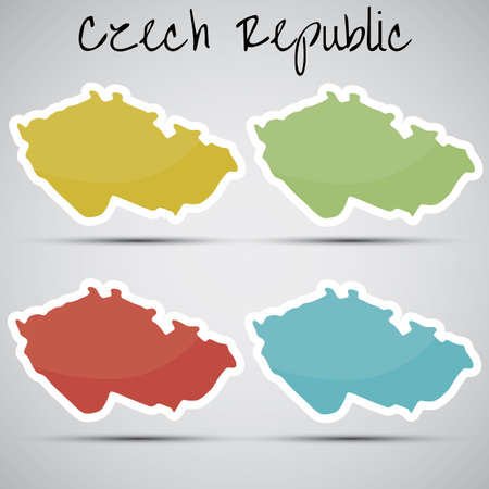 mapa: stickers in form of Czech Republic Illustration