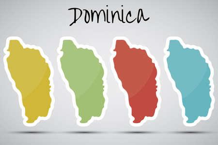 dominica: stickers in form of Dominica