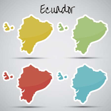 ecuadorian: stickers in form of Ecuador