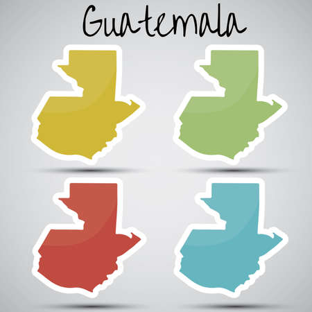 guatemala: stickers in form of Guatemala