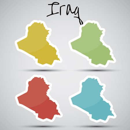 iraq war: stickers in form of Iraq