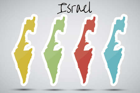 stickers in form of Israel Stock Vector - 20596756