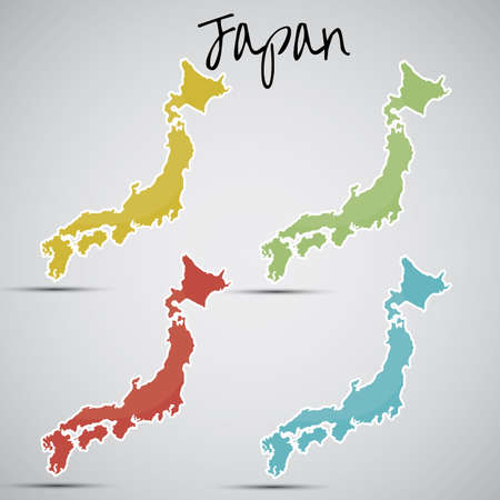kingston: stickers in form of Japan