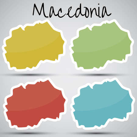 macedonia: stickers in form of Macedonia