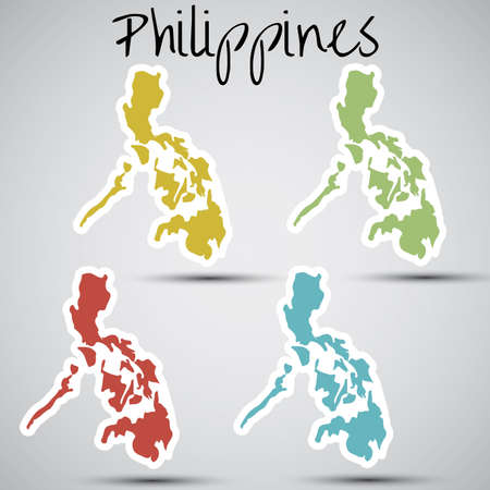 filipino: stickers in form of Philippines