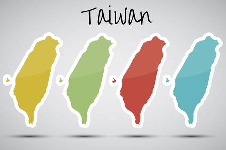 stickers in form of Taiwan