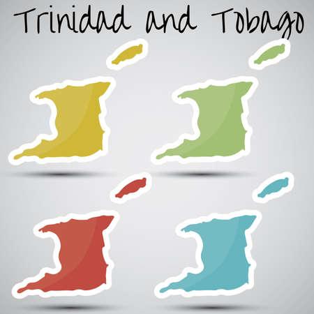 trinidad: stickers in form of Trinidad and Tobago Illustration
