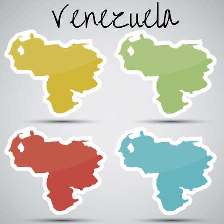 mapa de venezuela: pegatinas en forma de Venezuela