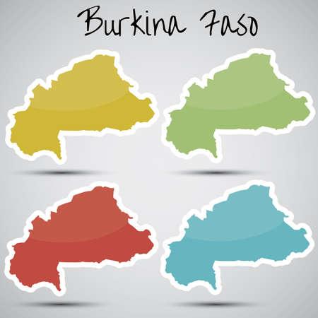 burkina faso: stickers in form of Burkina Faso