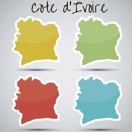 cote ivoire: stickers in form of Ivory Coast Illustration