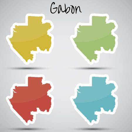 gabon: stickers in form of Gabon