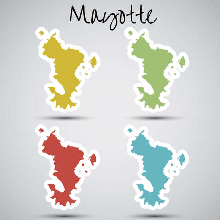 mayotte: stickers in form of Mayotte Illustration