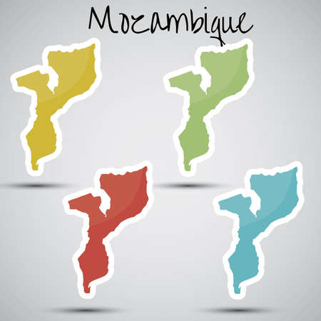 mozambique: stickers in form of Mozambique