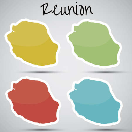 stickers in form of Reunion