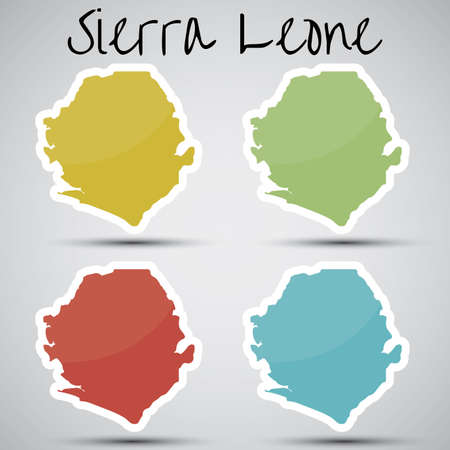 sierra: stickers in form of Sierra Leone