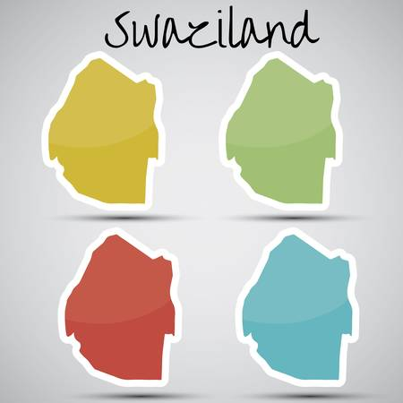 swaziland: stickers in form of Swaziland