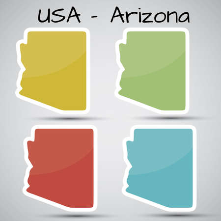 arizona: stickers in form of Arizona state, USA