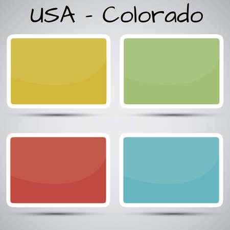 Денвер: наклейки в виде штата Колорадо, США