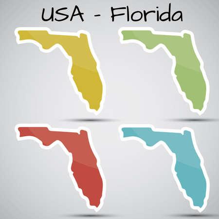 autocollants en forme de l'Etat de Floride, Etats-Unis
