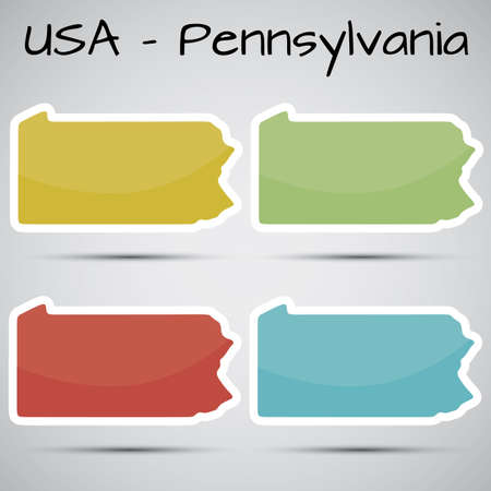 stickers in form of Pennsylvania state, USA 版權商用圖片 - 21633666