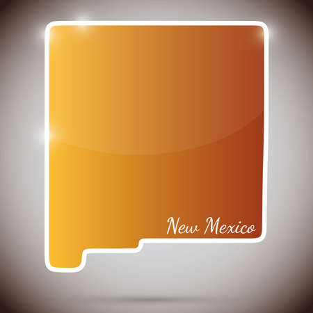 albuquerque: vintage sticker in form of New Mexico state, USA  Illustration